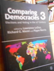 Comparing democracies 3 Elections and voting in the 21 century edited by Lawrence LeDuc and others