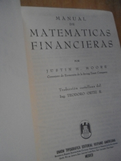 Manual de matemáticas financieras Justin H. Moore