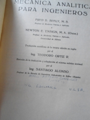 Mecánica analítica para ingenieros Fred B. Seely y Newton E. Ensign