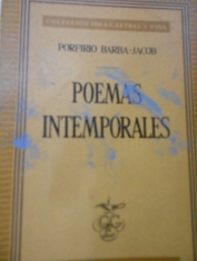 Poemas intemporales. Porfirio Barba-Jacob