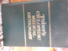 Taber`s Cyclopedic medical dictionary. Edited by Clayton L. Thomas
